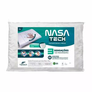 Travesseiro Fibrasca Nasa Tech Suporte Médio Branco