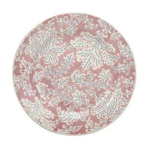 Prato Raso Le Floral Cerâmica Redondo Rosa 24cm