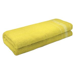 Toalha de Banho Atlântica Candy Algodão Amarelo 1 Peça