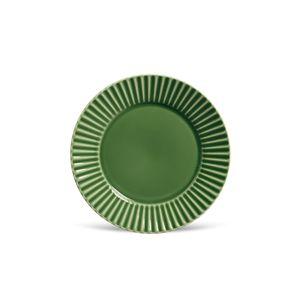Prato Raso Porto Brasil Plisse Verde 26cm