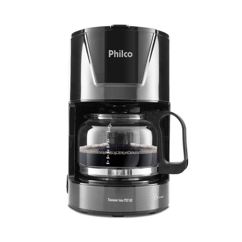Cafeteira Elétrica Philco Titanium Inox Preto 220v - Pcf18t